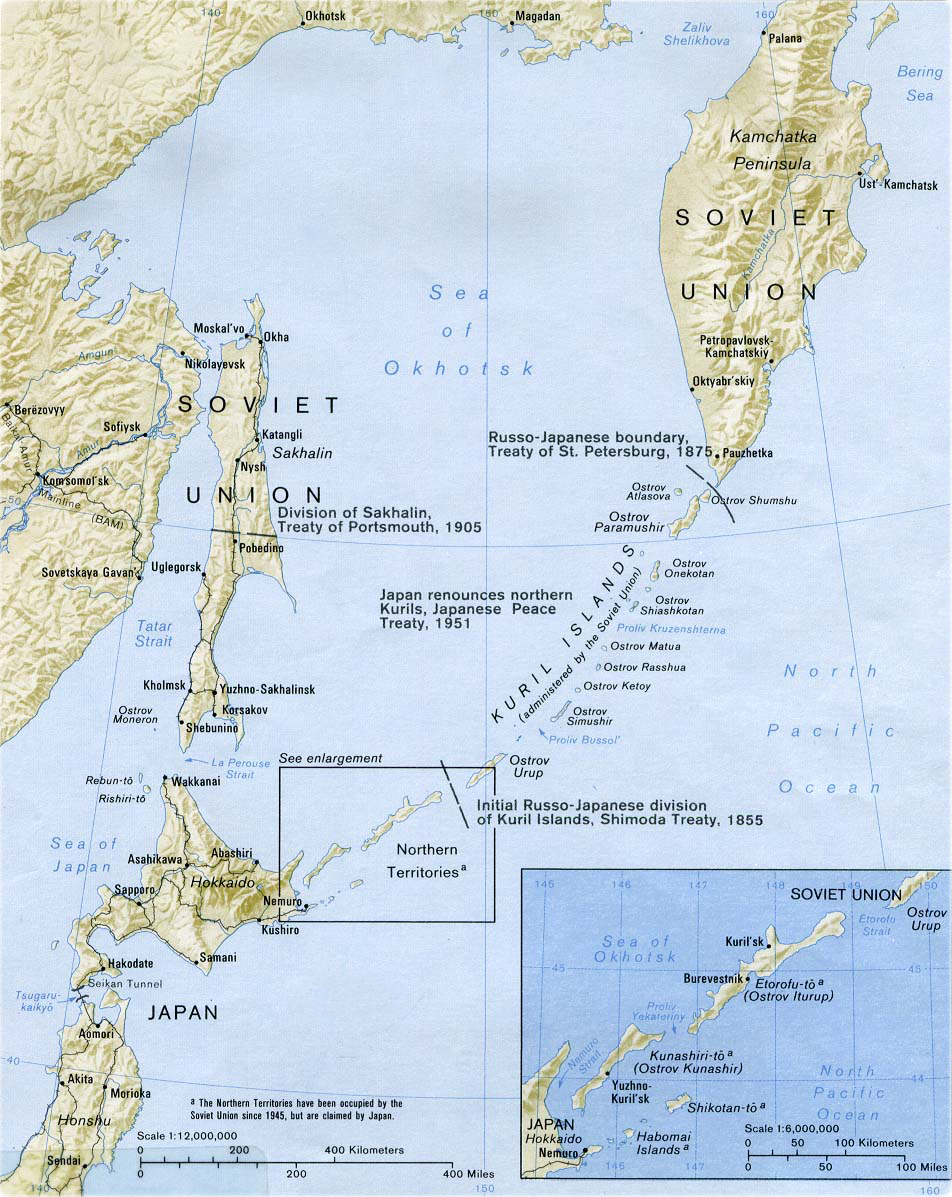 Map Of Kuril Islands - Islands map
