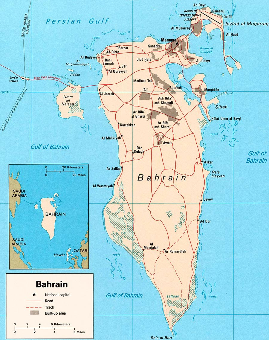 Bahrain Map Map U S Central Intelligence