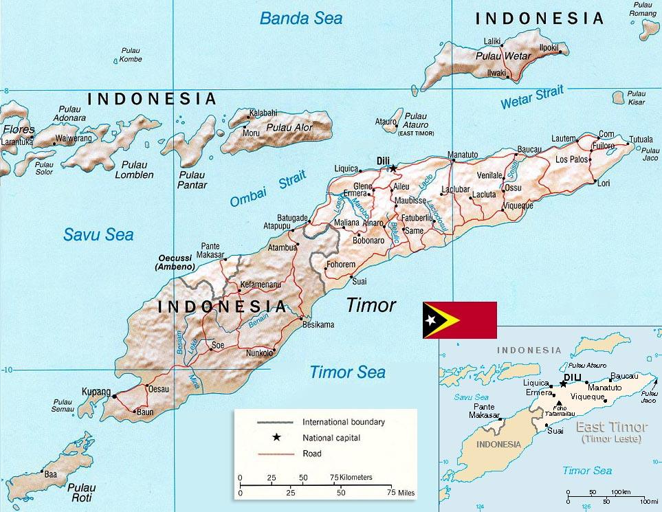 East Timor Map Capital Dili Leste: Map East Timor At Infoasik.co