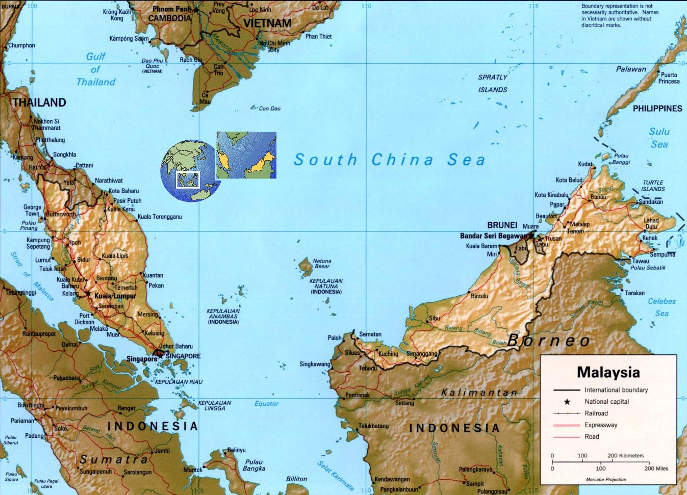 Malaysia map and flag capital kuala lumpur malaysia map gumiabroncs Image collections