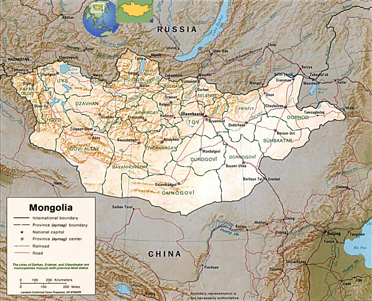 Mongolia Terriroty Map, Map of Mongolia Ruling Area