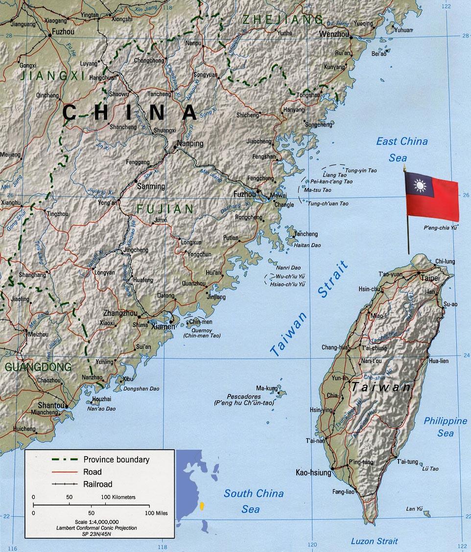 Taiwan Map Capital Taipei